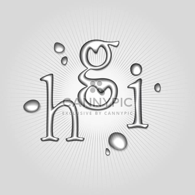 Vektor-Wasser Buchstaben H, G, ich - Free vector #130360