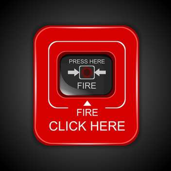 Red fire alarm icon - vector gratuit #130400