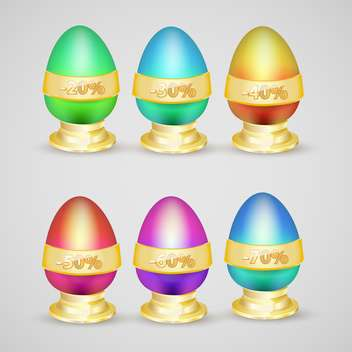Set with vector discount eggs - Free vector #130450
