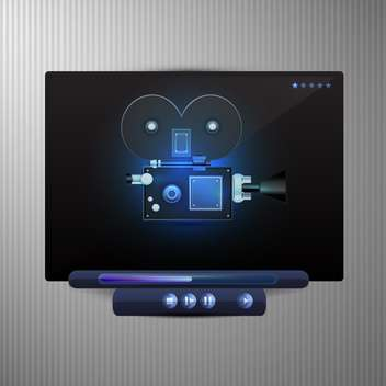 Web media video player - vector #130480 gratis
