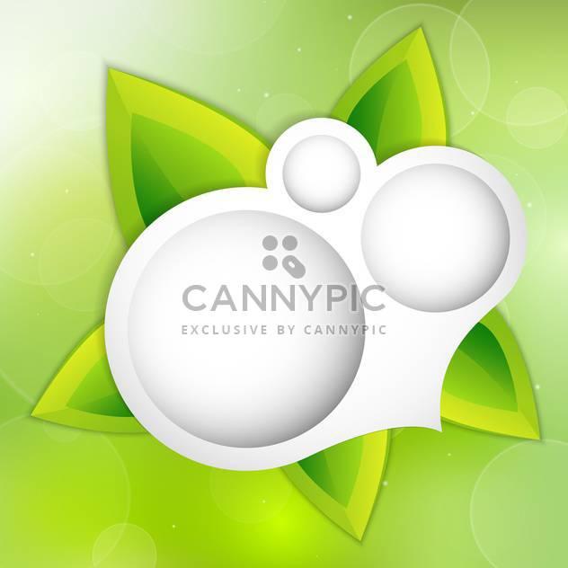 Vektor-Hintergrund mit grünen Blättern - Kostenloses vector #130520