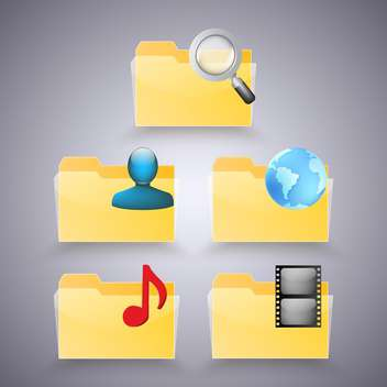 vector illustration of business folders icons - Free vector #130700
