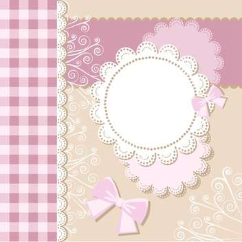 Template frame design for card with text place - Kostenloses vector #130780