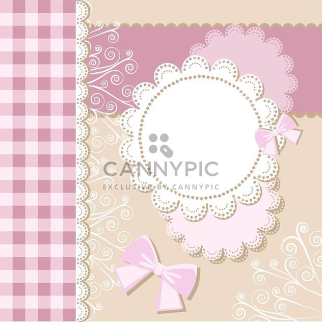 Template frame design for card with text place - Free vector #130780