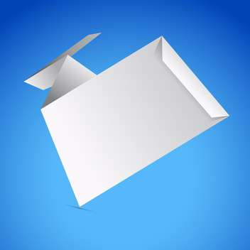 Abstract origami speech bubble on blue background - vector gratuit #130820