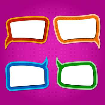 Vector set of speech bubbles illustration - Free vector #130840