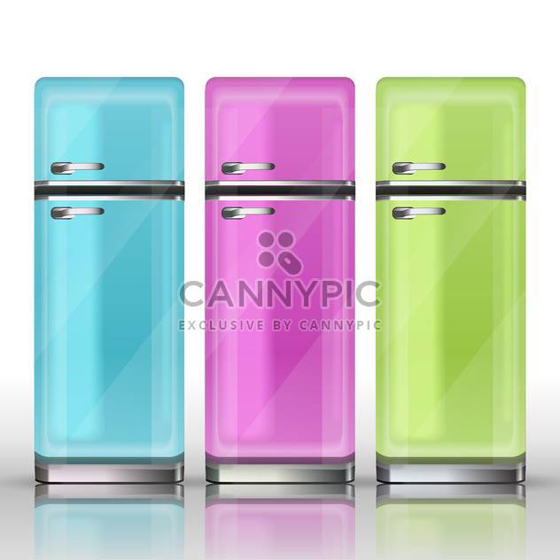 Front view of a refrigerators vector illustration - Free vector #130930