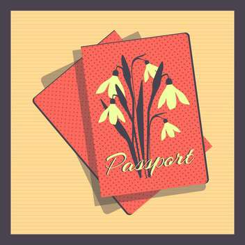 Retro style passport cover vector illustration - vector #131020 gratis