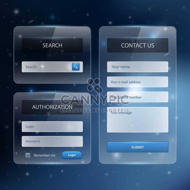Website Entwurf Vorlage Navigationselemente mit Ikonen - Free vector #131060