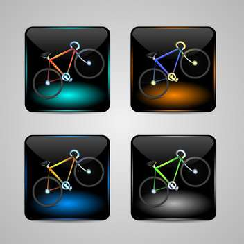 Bicycle sign vector icons - vector gratuit #131080
