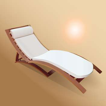 Vector beach lounger illustration - Free vector #131130