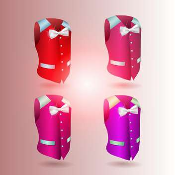 Vector illustration of waistcoat on pink gradient background - Free vector #131140