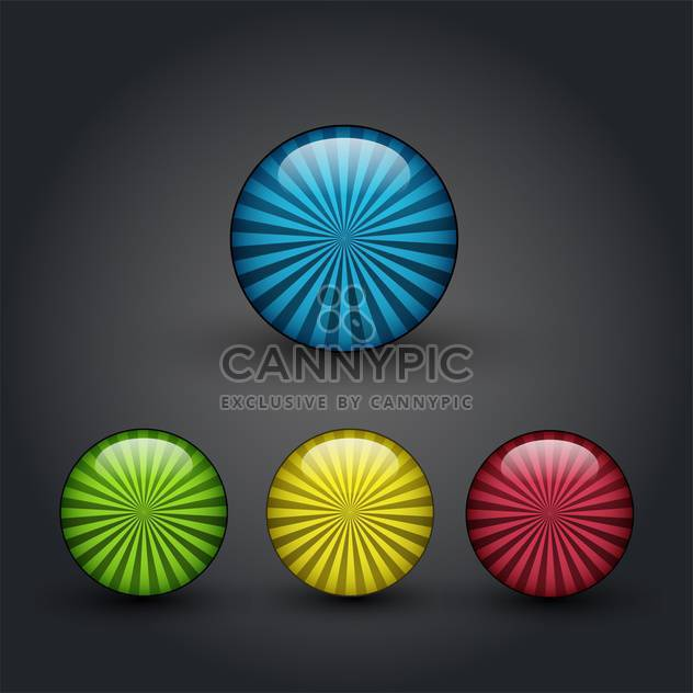 Vector color web buttons set - Free vector #131160