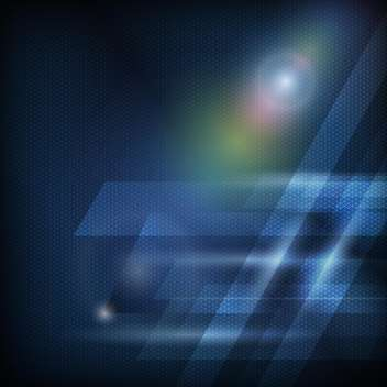 Abstract blue curves background - vector #131260 gratis
