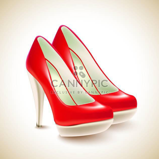 High Heels Schuhe-Vektor-illustration - Free vector #131270