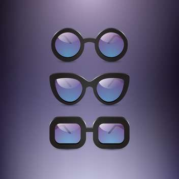 collection of oldschool glasses on grey backround - vector #131300 gratis