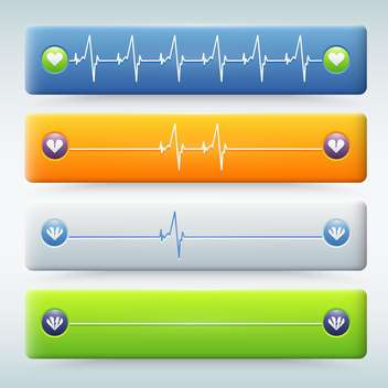 background with different types of cardiogram - vector gratuit #131320