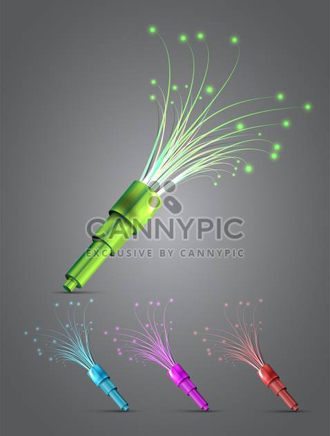Neon light flashlight vector set - Free vector #131410