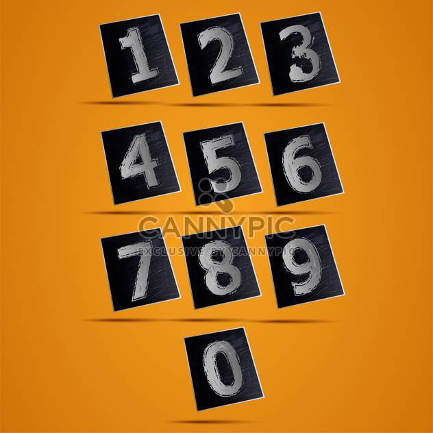Number phone keypad vector illustration - Free vector #131430