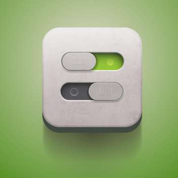 Switch on and off on on green background - vector gratuit #131640