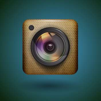 Photo camera web icon vector illustration - Free vector #131800