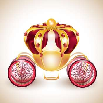Fairytale carriage vector illustration on light background - vector #131960 gratis
