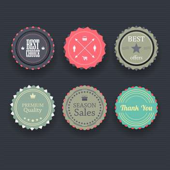 Set of retro vintage badges and labels vector illustration - Free vector #131980