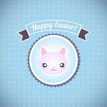 Happy easter cards illustration retro vintage with easter bunny - vector #132010 gratis