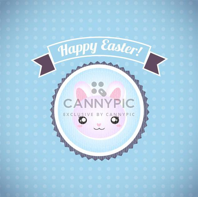 Happy easter cards illustration retro vintage with easter bunny - Free vector #132010