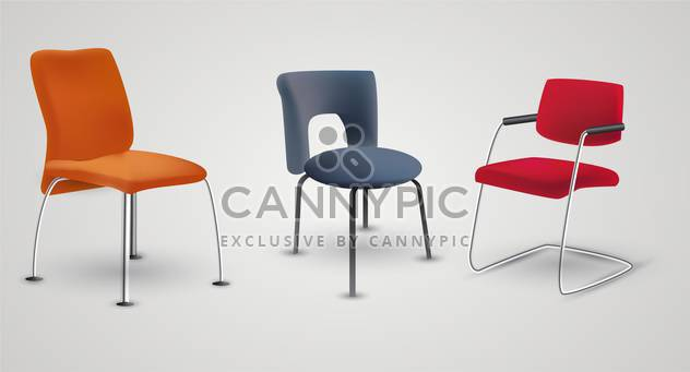 vector office armchairs on white background - Free vector #132030
