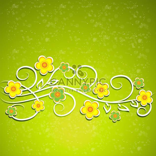 Green vector floral background - Free vector #132070