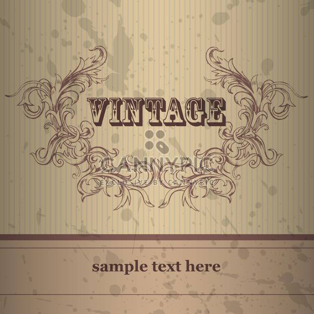 Vector vintage background with floral frame - Free vector #132220