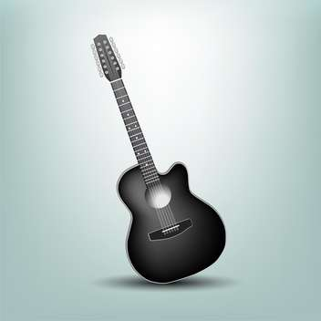 Vector illustration of a acoustic guitar - vector gratuit #132270