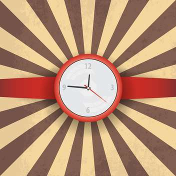 Vector illustration of red wristwatch on vintage background - Free vector #132340