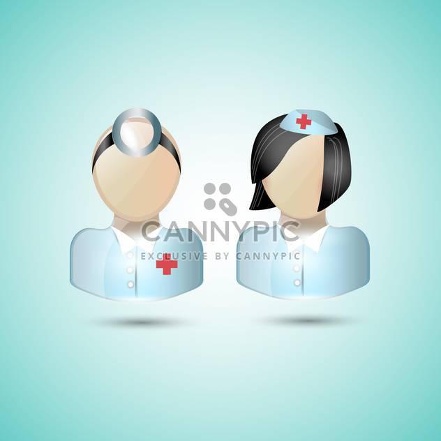 Arzt-Symbole im blauen Kittel auf Türkis hintergrund isoliert - Free vector #132380