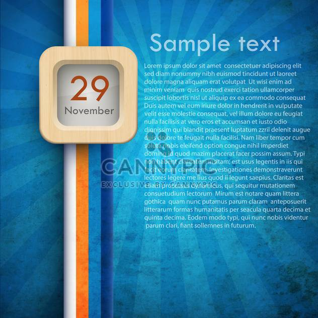blue calendar background - 29 november - Free vector #132410