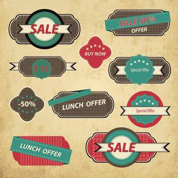 Set of retro vintage badges and labels - vector gratuit #132440