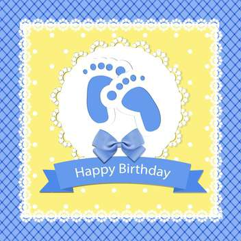 happy birthday baby arrival card - vector #132520 gratis