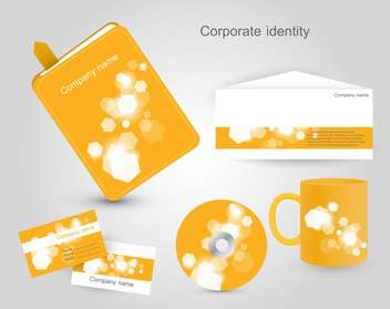 corporate identity vector labels set - vector #132550 gratis