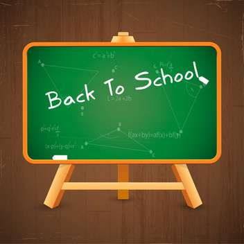 vector back to school inscription on blackboard - vector gratuit #132630