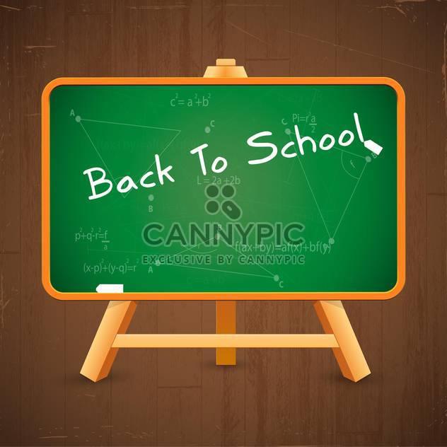vector back to school inscription on blackboard - Free vector #132630