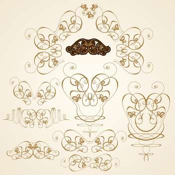 scrapbook ornate templates set vector illustration - Kostenloses vector #132660