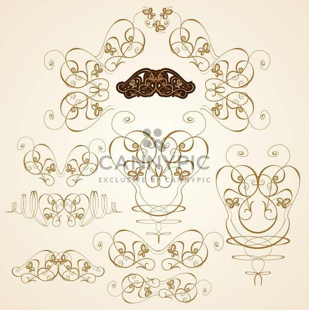 scrapbook ornate templates set vector illustration - Free vector #132660