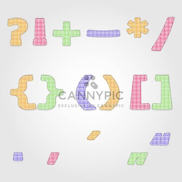 vector punctuation marks and vector symbols - Free vector #132700