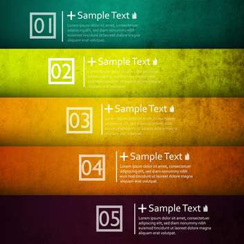 colorful numerical business option banners - vector #132720 gratis