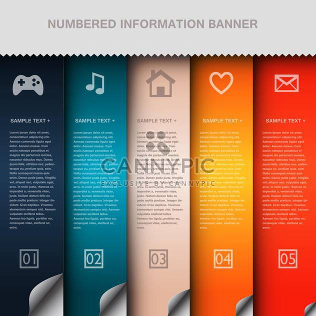 business option numeric banners - Free vector #132730