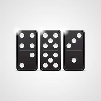 black domino set vector illustration - vector gratuit #132780