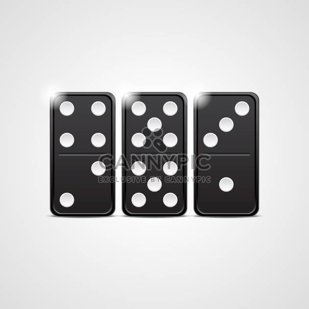 black domino set vector illustration - Free vector #132780