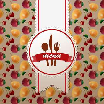 menu design on fruit background - vector #132830 gratis