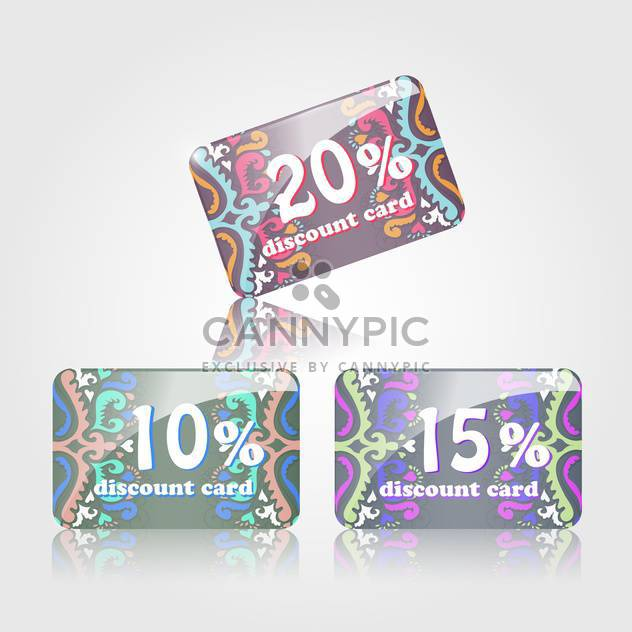 shopping discount cards set - Free vector #132850